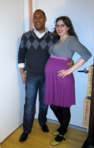 Valentine's Day date--23 weeks pregnant!