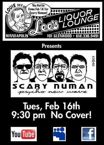 Scary Numan, my band at Lee's in Minneapolis
