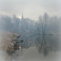 Fog in Winter-2 (Arunas S) Tags: winter sky urban mist snow reflection art ice church nature water fog architecture clouds river season square landscape freedom landscapes daylight day view artistic time cloudy footbridge sony foggy calm baltic monastery daytime minster stillness daydream freezy lithuania picnik wether tranquillity lietuva kretinga vienuolynas arunas sonydscr1 žemaitija laikas superaplus aplusphoto samogitia dragondaggerphoto dragondaggeraward yourwonderland magicunicornverybest magicunicornmasterpiece švpanosmarijosbažnyčia16101617