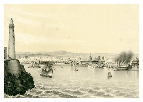 003-La Habana desde la entrada del puerto-Álbum pintoresco de la Isla de Cuba- 1853