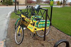 GreenBike (reallyboring) Tags: chicago bike illinois unitedstates bikes il sharing oaklawn saintxavieruniversity mountgreenwood