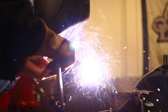 IMG_7502 (geospatialjim) Tags: bike shop fun cool iron steel welding weld seat garage tools bicycles business cutting chopping hip ghent cruisers grinding metalworking cooling seatpost welder beachcruisers ghentcruisers gcruisers