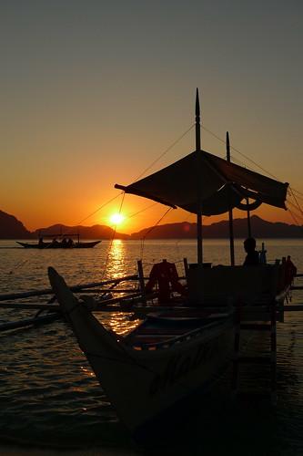 Sunset in Ipil Beach
