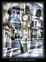 Past & Present Encounter / Rencontre du Pass et du Prsent (Luna TMG) Tags: reflection clock window shop mannequins models reflet boutique present horloge past encounter rencontre vitre pass prsent