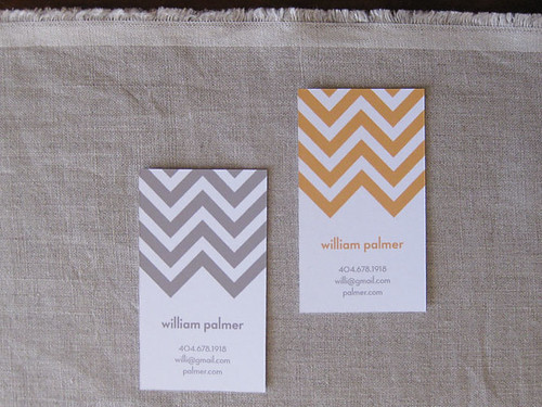 Chevron Calling Card(s)
