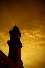 Minaret of Alkadimiah (Hussain Isa) Tags: sunset shrine minaret muslim islam iraq baghdad islamic  shiite
