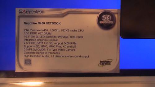 Sapphire N450 Netbook