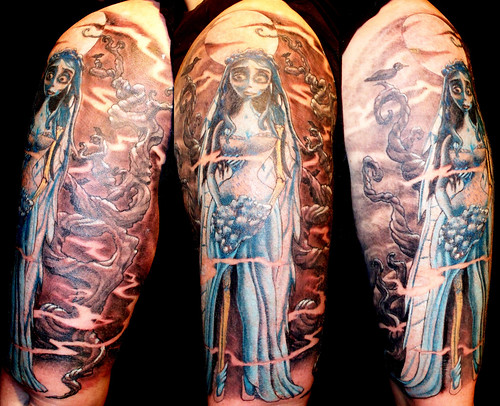 Tim Burton Corpse Bride Tattoo Sleeve