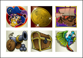 free Goldbeard slot game symbols