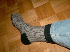 Silver Birch Side-to-Side Socks