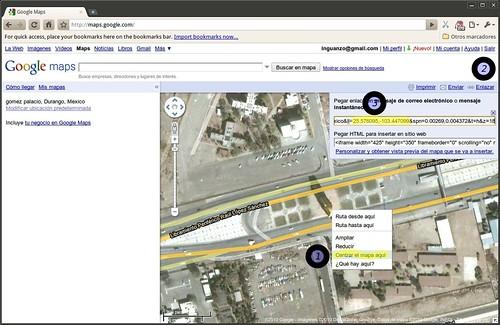 Obtener coordenadas mediante Google Maps