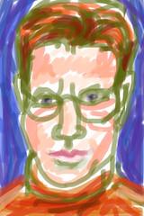 The Ole' Self-Portrait Stare 2010.03.14 (Julia L. Kay) Tags: sanfrancisco pink blue red portrait orange brown selfportrait green art face self sketch san francisco artist arte julia kunst autoretrato kay daily dessin peinture portraiture stare 365 everyday dibujo artista furrowed artiste brow knstler juliakay julialkay