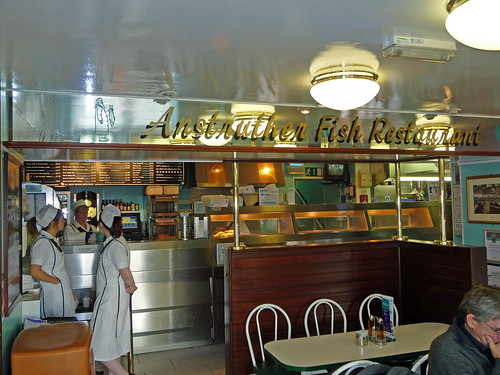 Inside Anstruther Fish Bar, Fife Coast