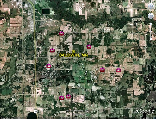 Baldwin, with new subdivisions (image by Google Earth, markings by me)