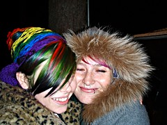 Best friend!! (Megan is me...) Tags: blue red portrait orange color green colors smile fashion rose yellow self hair effects photography one diy clothing crazy rainbow eyes colorful neon pretty colours russell mckay bright unique cassidy awesome meg violet plum megan style nuclear special clothes kind fishbowl iguana jerome colored mayhem peterson punky striped bleached dyed napalm sfx rosered megface meganisme bleachednapalmorange cassillydilly