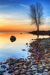 Morning Reflections (James Marvin Phelps) Tags: reflection nature sunrise outdoors photography lakeerie michigan hdr mandj98 lakeeriemetropark jmpphotography jamesmarvinphelps