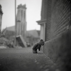 emo (patrickjoust) Tags: bear street city urban bw usa white black cute tower 120 6x6 tlr blancoynegro film home church analog america square lens us reflex md focus mt sad shanghai mechanical teddy united gothic patrick twin maryland super baltimore steeple 150 mount sidewalk v depression epson depressed medium format 100 pan states manual 500 rodinal joust vernon developed ricoh episcopal emmanuel develop estados 80mm blancetnoir unidos ricohflex v500 gp3 schwarzundweiss autaut patrickjoust