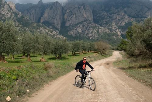 Biking from Vinya Nova