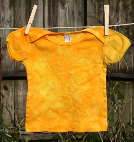 Golden yellows short sleeve tee 12-18 months