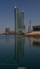 Marina Bay Towers.. Bahrain (Sai Achanta) Tags: reflection bahrain cityscape 7d 24105mm mywinners