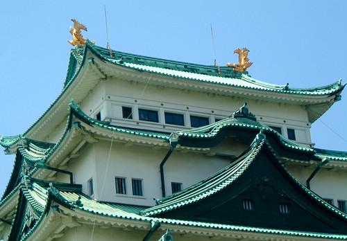 Nagoya castle's golden dolphins