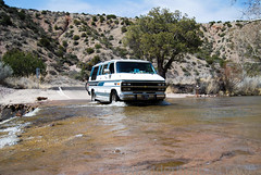 Raging River (auzzki) Tags: travel camping expedition fun honeymoon exploring wanderlust adventure chevy justmarried campervan overland vanconversion g20van honeymoonadventure
