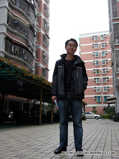 Nic at his uncle and aunt's condominium