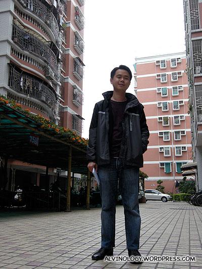 Nic at his uncle and aunt's condominium