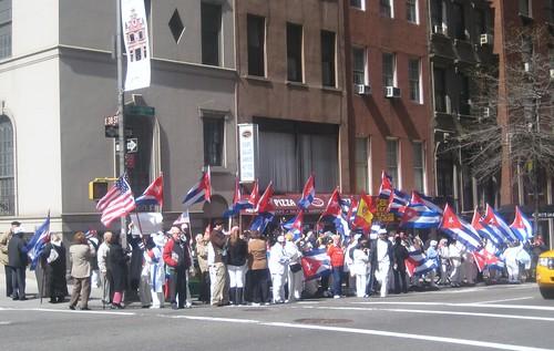 Vista Protesta 03-27-10. Frente Mision cubana ONU