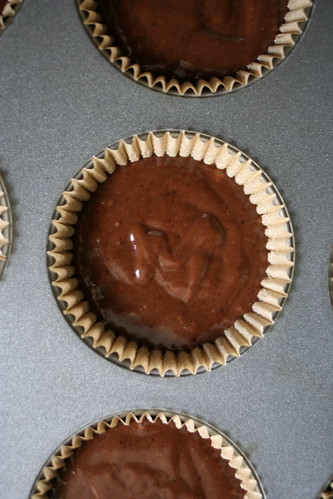 vegan chocolate ginger cupcakes