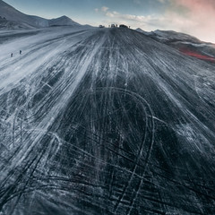 black ice twisted (johann Smari) Tags: hot ice fire volcano lava iceland ashes eruption mrdalsjkull fimmvruhls eyjafjallajkull volcaniceruption eldgos johannsmari