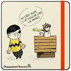 Deunan, ni siquiera eres un perro (Fotero) Tags: blog humor snoopy viñeta piloto deunan oneeyedman dibujoblog