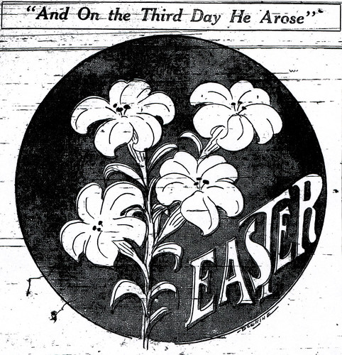 An illustration for Easter Services in the Joplin Globe