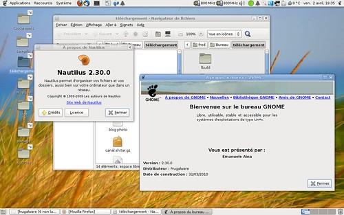 Un aperçu de gnome 2.30 dans Frugalware