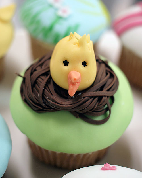 Planet Cake Chicken Nest Easter Cupcake