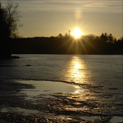 Yes, the lake still frozen (NaPix -- (Time out)) Tags: morning lake canada reflection love ice nature beauty sunrise landscape early frozen god watching free emotions enchanting lakescape napix