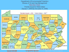 PA Permits Issued & Wells Drilled 2008