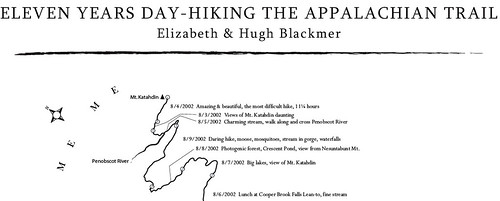 Kate's Appalachian Trail map