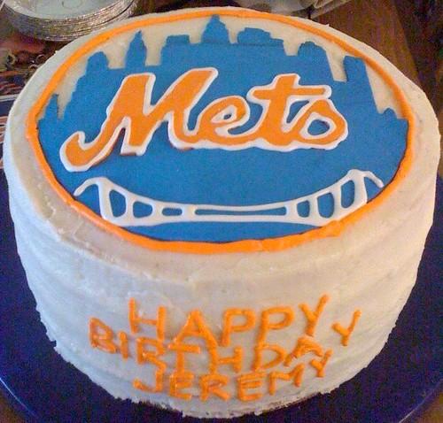 Cupcake Obsessed Mets Birthday Cake