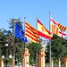 Flags in front of Palau Reial