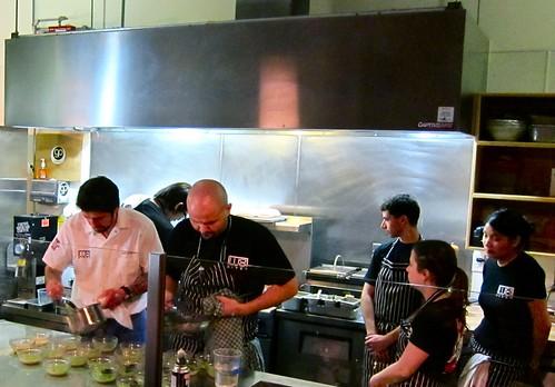 Kitchen staff hard at work at Ludobites 4.0