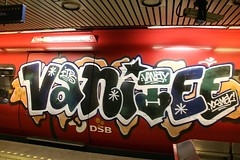 Vanitee train, Copenhagen, 2009 (KET ONE) Tags: train copenhagen graffiti pieces vanity alanket