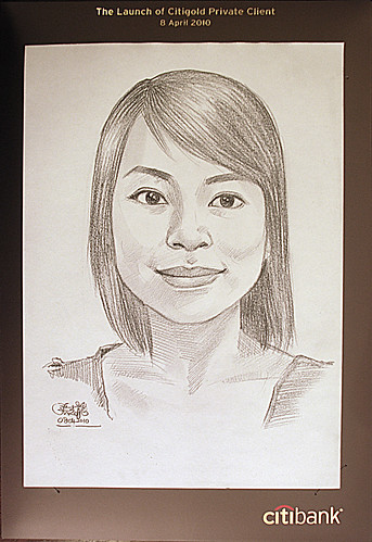 Portrait live sketching for CitiGold - 3