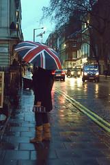 A Rainy Night.. (- M7D . S h R a T y) Tags: uk light cold cars rain night umbrella dark walking lights model walk rainy wordsbyme allrightsreserved nexttothestreet