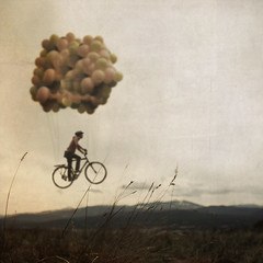 The Flying Machine (Boy_Wonder) Tags: mountains field bike balloons sam joel 365 trp selfiesquared