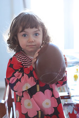 bianka with chocolate egg