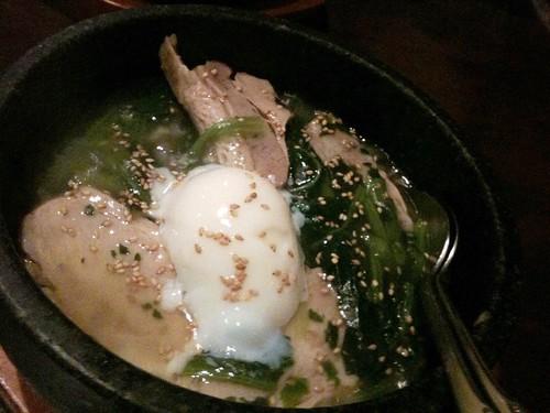 みや御苑の石焼きトントロご飯 1,150円!