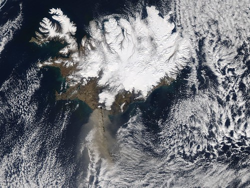 Eruption of Eyjafjallajökull Volcano, Iceland April 17 by NASA Goddard Photo and Video.