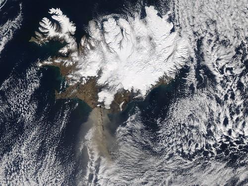 Eruption of Eyjafjallajökull Volcano, Iceland April 17 by NASA Goddard Photo and Video.