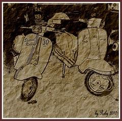 Vespe (Roberto. T) Tags: auto arte moto trasporti veicoli